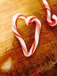heart candy cane